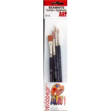 Golden Synthetic Brush Set (2,4,8,10)